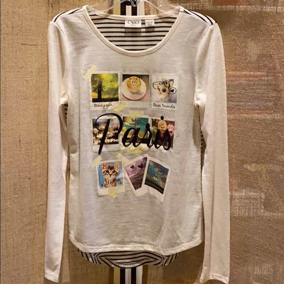 """Cato Other - Cato girls """"Paris"""" long sleeve tee"""